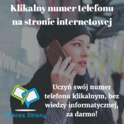 Klikalny numer telefonu na stronie internetowej