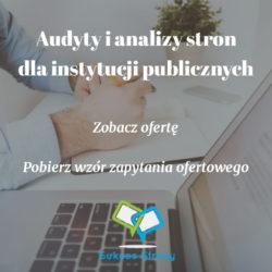 Audyty stron internetowych instytucji publicznych